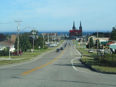 Picturesque town of St. Anne des Monts