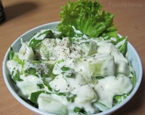 Млечна зелена салата