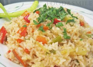 Ориз с чушки и бяло вино