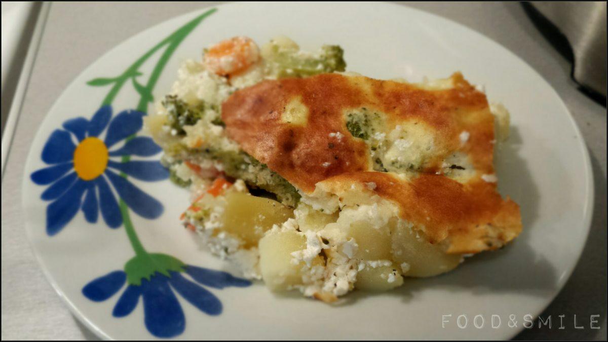 Печени картофи с броколи и сирене