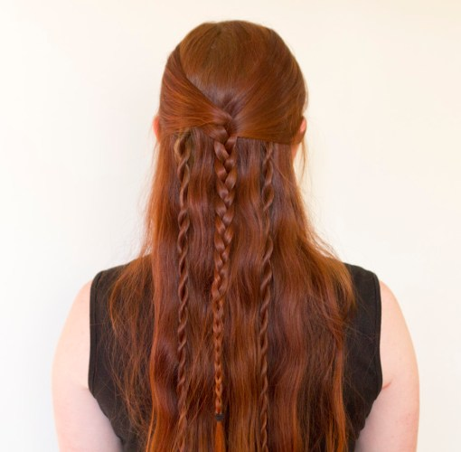Rollo Lothbrok's braided hairstyle