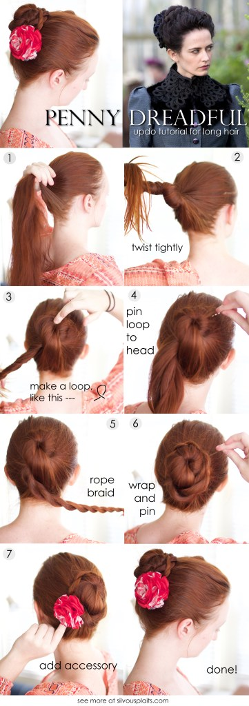 Penny Dreadful braided updo tutorial