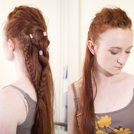 Lexa's Edgy Grounder Hairstyle