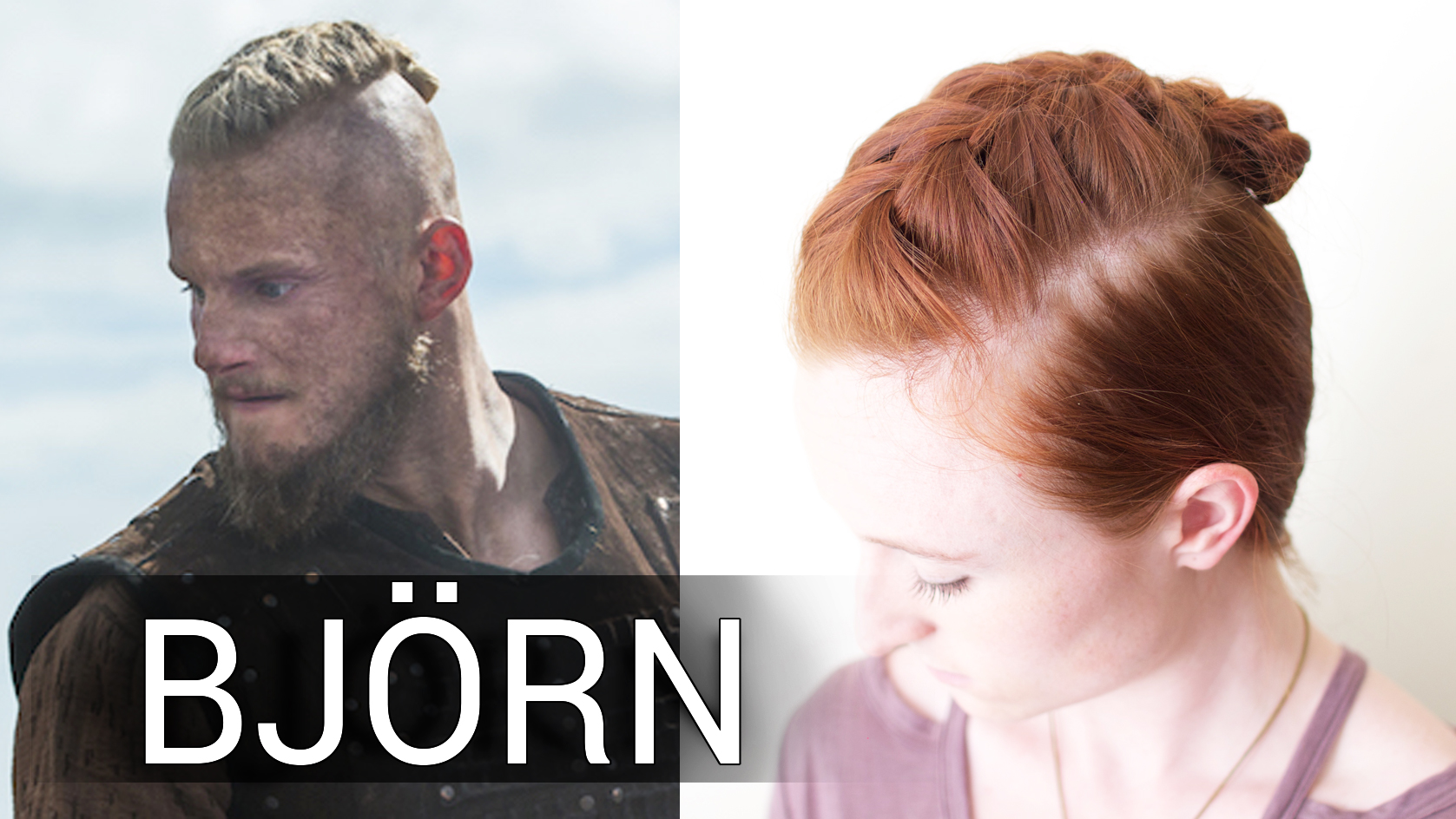 Viking Hair Bun Tutorial for Bjorn Ironside