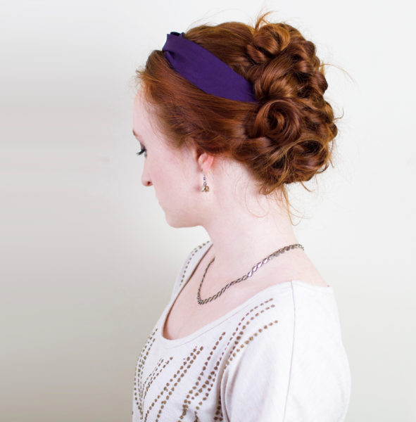 Belle curly hairstyle updo