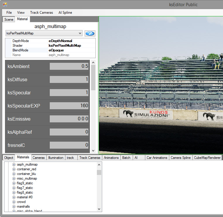Working with KsEditor the Assetto Corsa Editor    SimGarage KsEditor Material