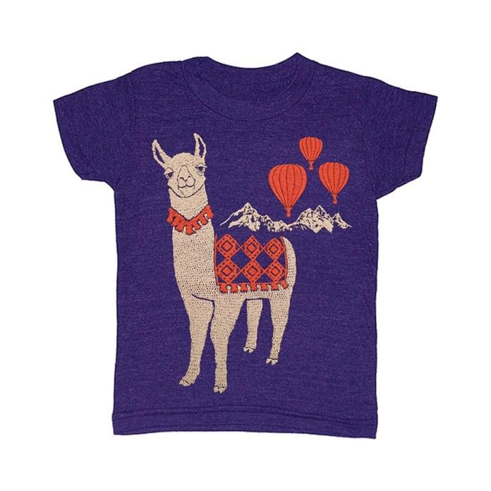llama_kids_tshirt_hot_air_balloons_camel_cute gnome
