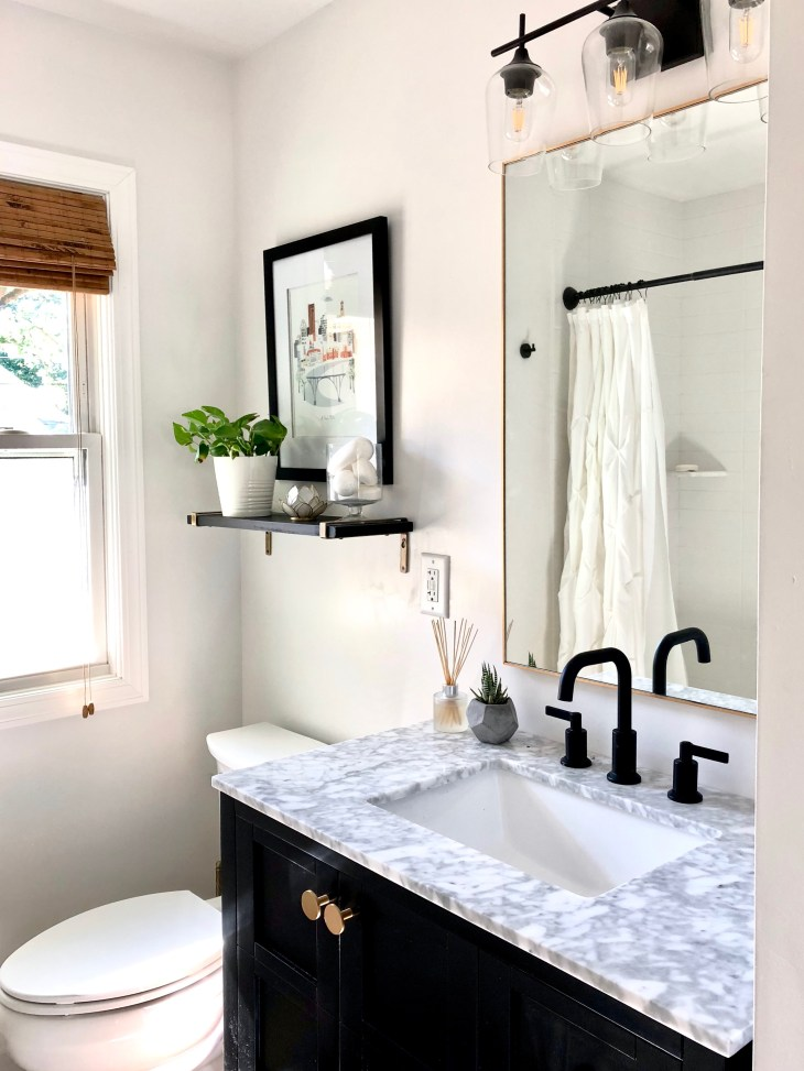 Hideous To Heavenly Our Hallway Bathroom Remodel Reveal Sima Spaces