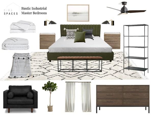 Sima Spaces E-design master bedroom design