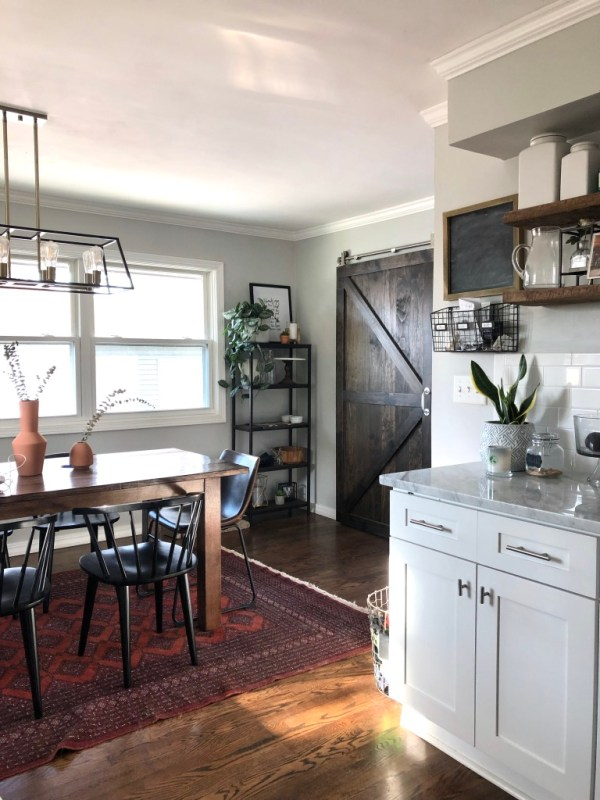 modern farmhouse dining room, before and after dining room, Sima Spaces dining room, home renovation