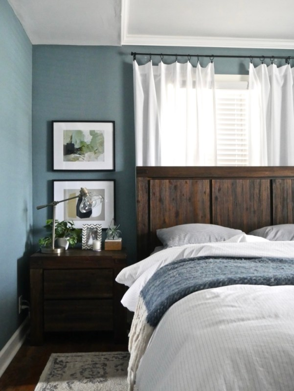 Sima Spaces paint colors, master bedroom paint color, blustery sky by sherwin williams