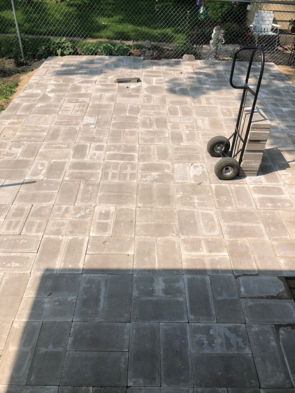 Sima Spaces patio remodel: paver install