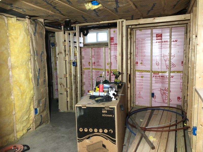 Framed, wired, and insulated basement: spring 2020 ORC