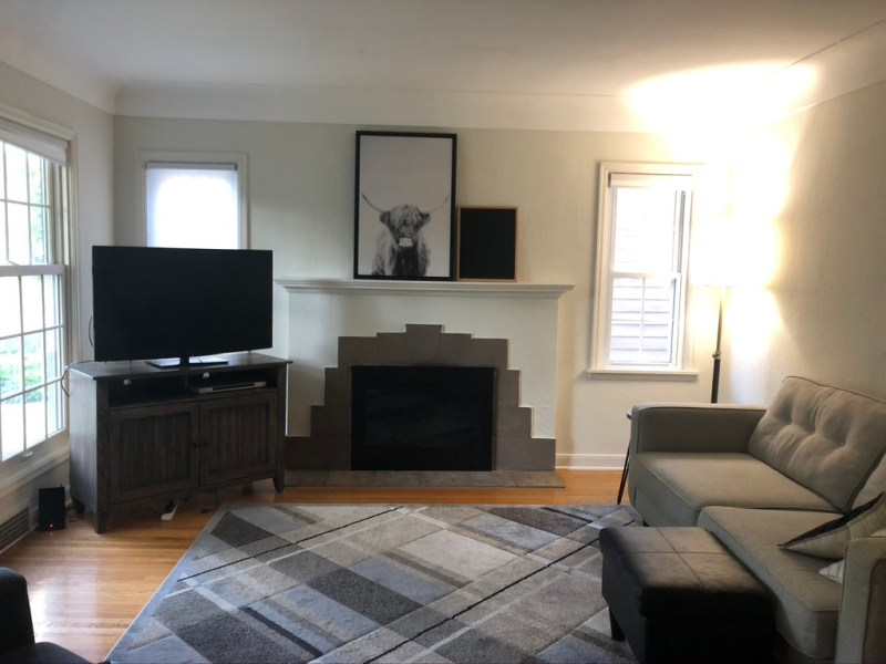 Sima Spaces Bayard Avenue: Living Room Before