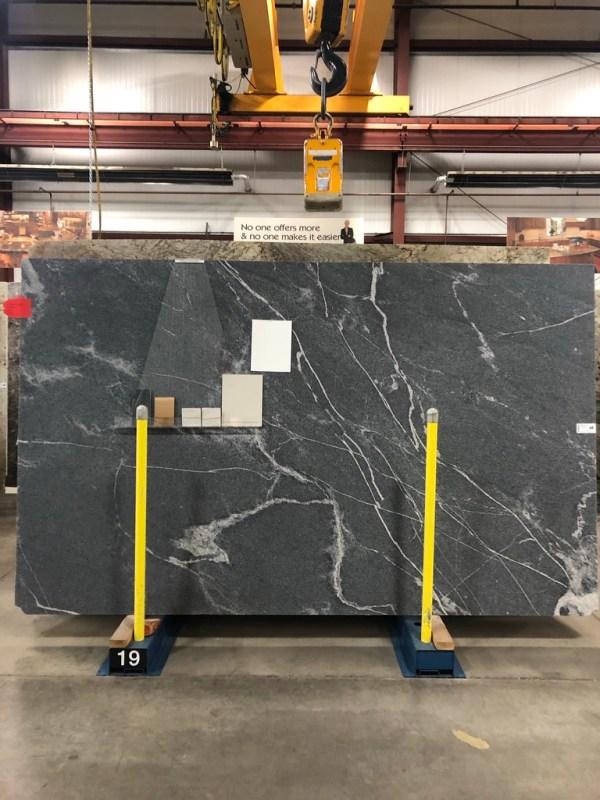 """""""Elegant Gray"""" granite slab: Sima Spaces countertops"""