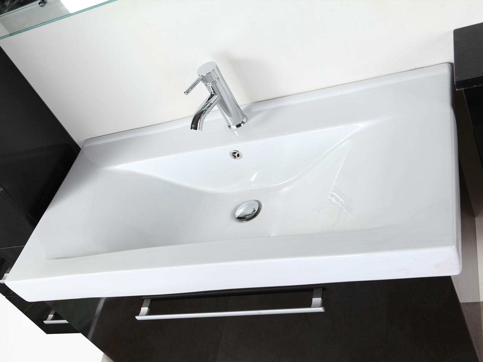 london meuble salle de bain 100 cm lavabo e colonne compris