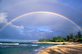 arcobaleno in spiaggia