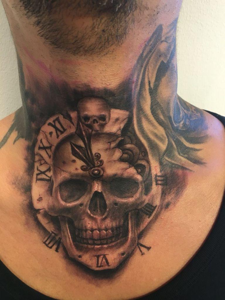 6594cf534 The 80 Best Neck Tattoos For Men Improb - Best Tattoo