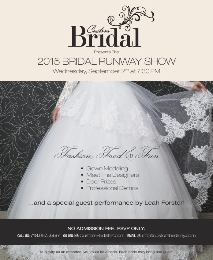 Join Us Tonight for an Exclusive Bridal Runway Show