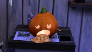 Sims 4 Spooky Stuff Pumpkin Carving