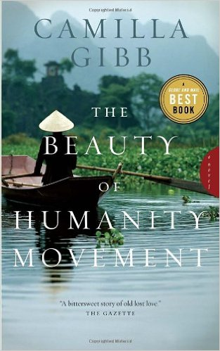 "Cover of the book ""The Beauty of Humanity Movement"" by Camilla Gibb, features a photograph of a Chinese person rowing a boat."