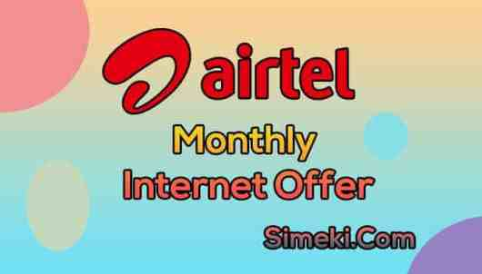 airtel monthly internet pack