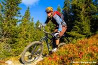 Ole Christian Fagerli, toppen NM-løypa, Hafjell Bike Park. Foto: Simen Berg