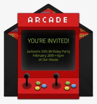 arcade machine online invitation 10th