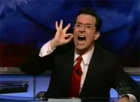 stephen colbert getting worked up about people smoking drugs
