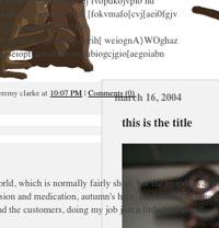 redesign - punctuatory graphic