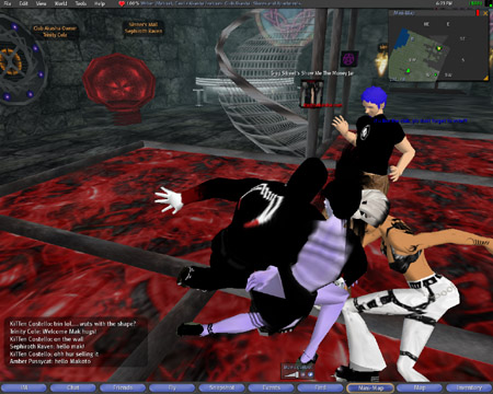 I am dancing in second life, well my avatar is anyway.