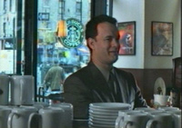 tom hanks pimping starbucks in you've got mail, the ultimate product placement film