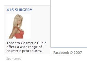 facebook promotes plastic surgery.