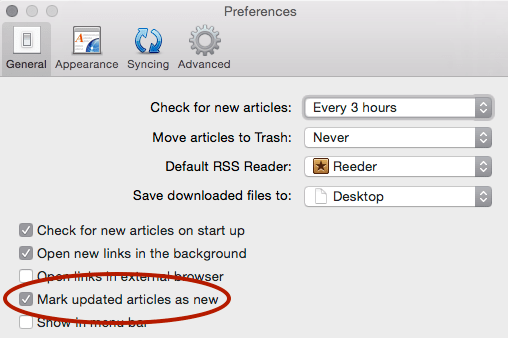 Ticking the Mark updated articles as new setting in Vienna's preferences might make it update more consistently.