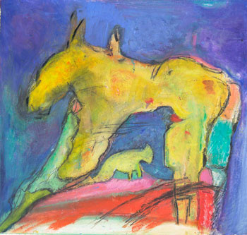 Yellow Horse by Simi Berman