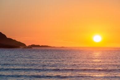 coucher de soleil, playa de Orzan