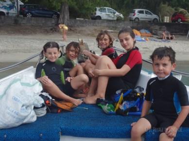 baptême de plongée avec les copains