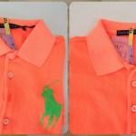 ラルフローレン蛍光カラーポロシャツの脱色復元