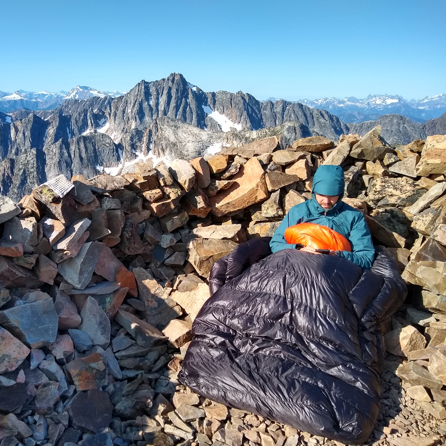 cofounder on cold mountain summit
