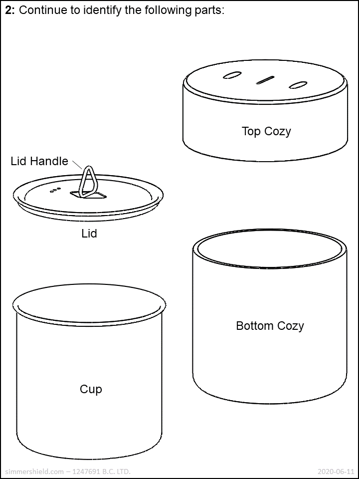 continue to identify parts