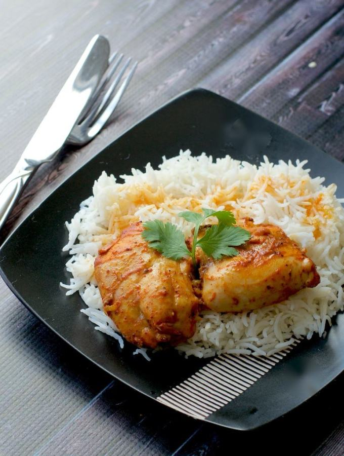 Mangalorean style baked chicken