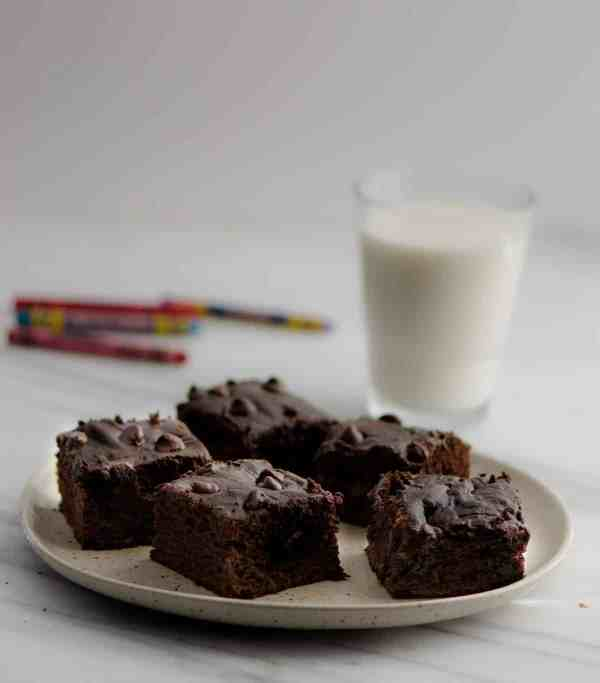 This delicious and moist Chocolate Banana Cake recipe filled with the goodness of coconut oil and banana makes for a healthy after school treat for kids. Make this 30-minute fuss-free cake using a blender.No stand in mixer required.