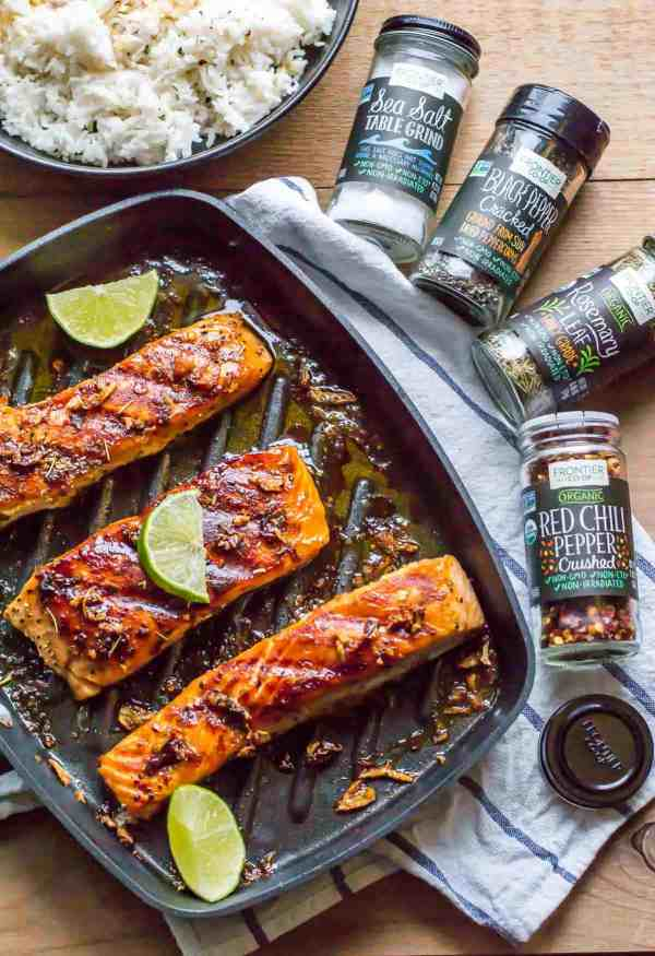 This 15-minute grilled honey garlic salmon is perfect for days when you crave a fancy meal but don't want to pay for it or spend hours making it.