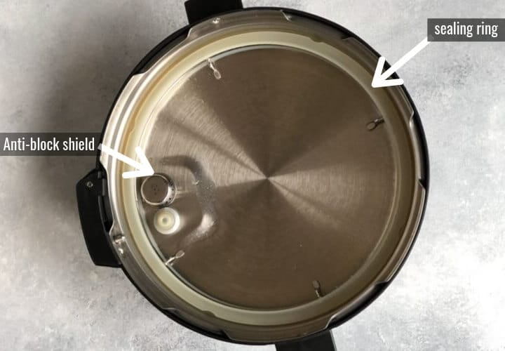 Instant Pot Lid - Inner view