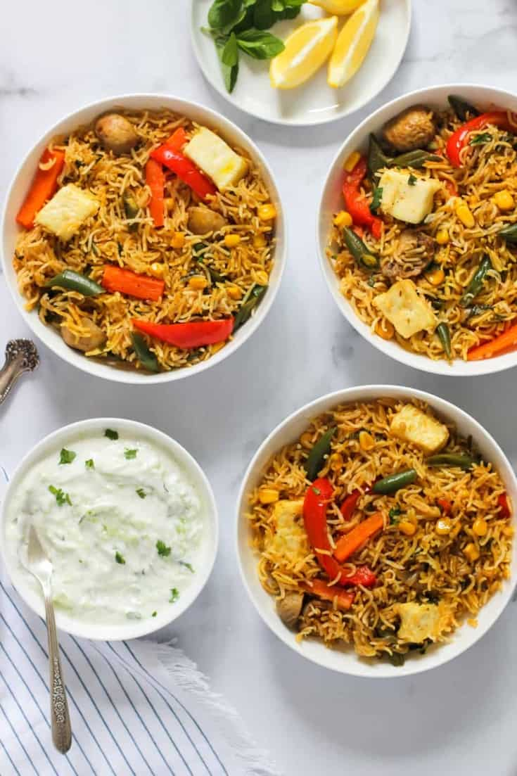 Instant Pot Vegetable & Paneer Biryani