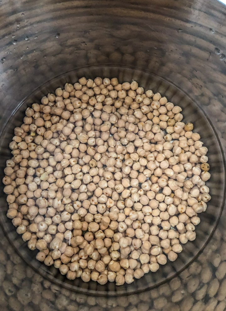 Unsoaked Chickpeas in Instant Pot