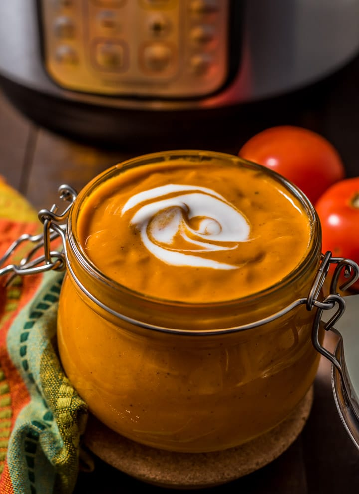 Tikka masala sauce is served in a glass jar