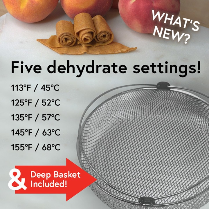 An image that showcases the new deep basket in the latest Mealthy CrispLid