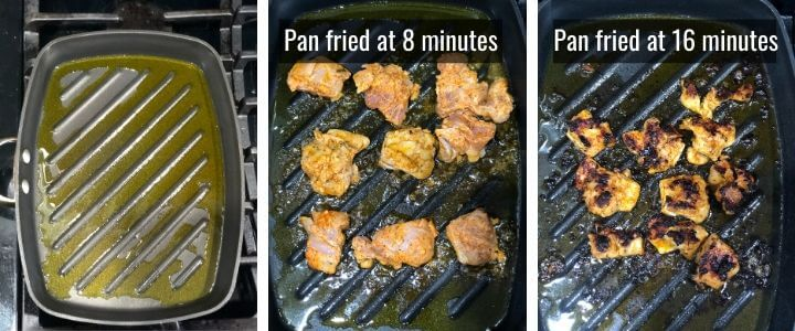 Steps to make Tandoori Chicken Tikka Marinade in a pan depicted in a collage