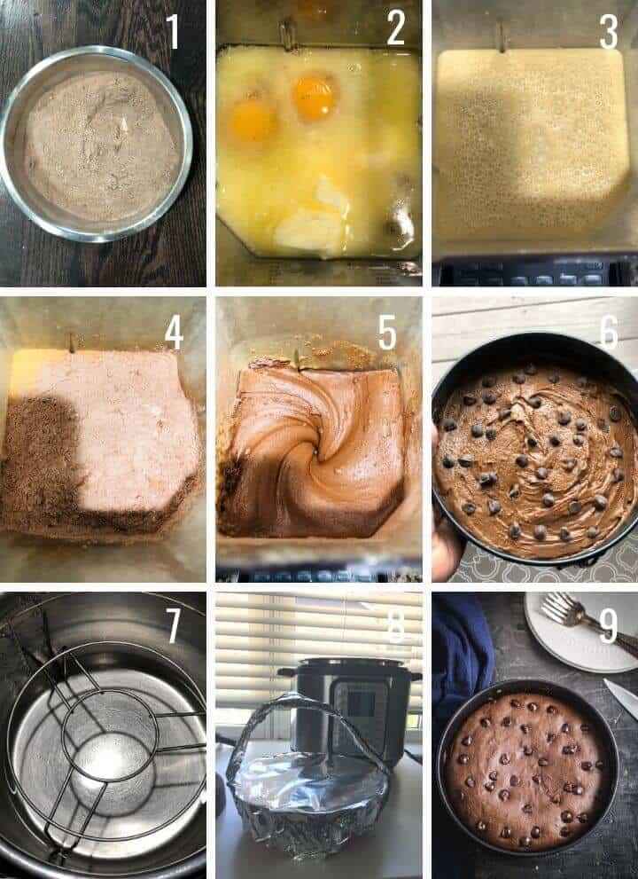 A step by step guide to making Cakey Instant Pot Brownies